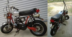1970's Classic RUPP Mini-Cycle restored to woking condition in 2006.