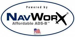 Powered by NavWorx, Affordable ADS-B - Decal