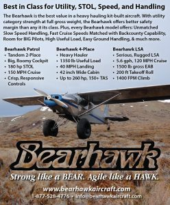 Bearhawk Aircraft - Sport Aviation Magazine ad