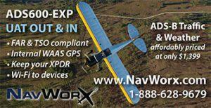NavWorx ADS600-EXP print ad in Kitplanes Magazine