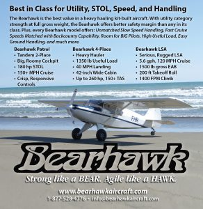Bearhawk Aircraft: Best in Class for Utility, STOL, Speed, and Handling. -Kitplanes Magazine