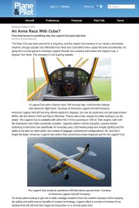 Legend Cub - Plane & Pilot Magazine