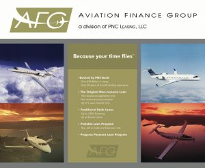 Aviation Finance Group Booth Graphic