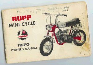 1970 RUPP Mini-Cycle