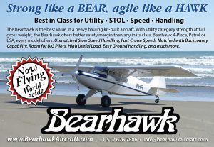 Bearhawk Aircraft: Strong like a BEAR, agile like a HAWK. -Trade-A-Plane Magazine