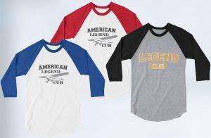 Legend Cub Raglan Logo Tees