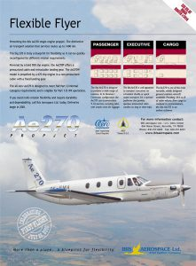 Ae270 Propjet – Flexible Flyer First Flight Print Ad