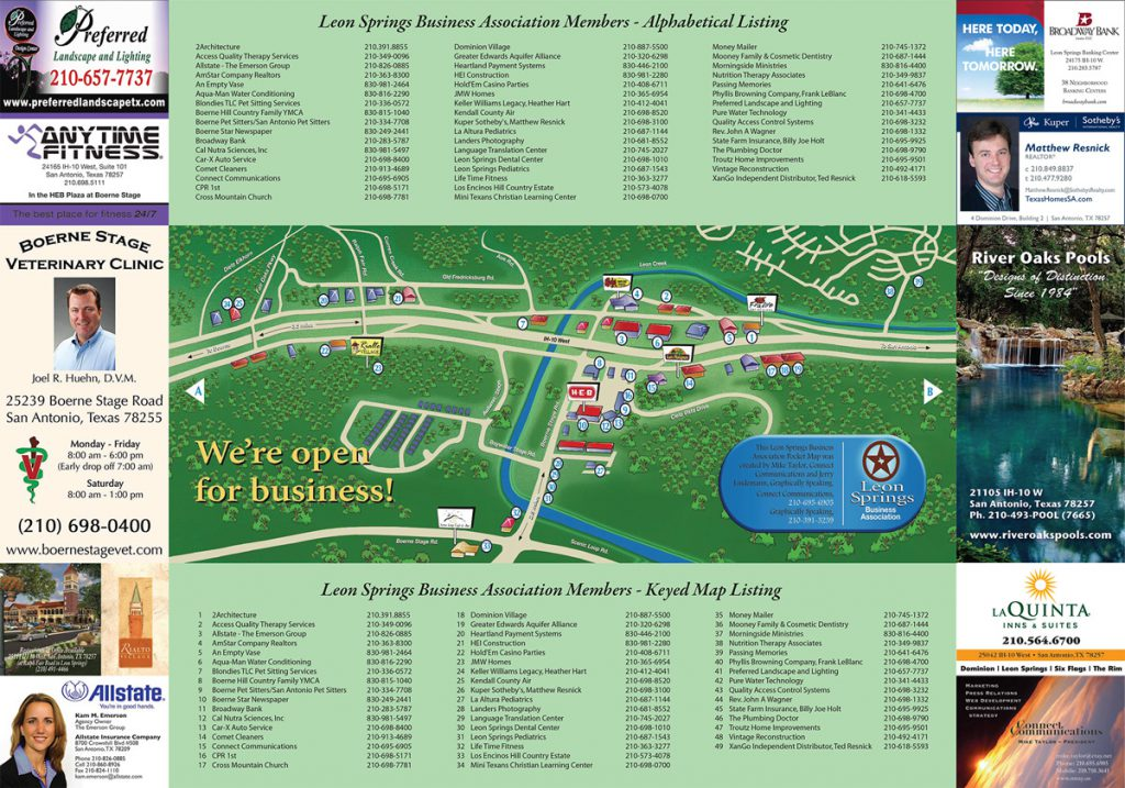 Leon Springs Business Association Member Map