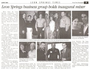 Leon Springs Business Association Inaugural Mixer