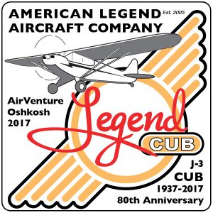 Legend Cub - Piper Cub - 80th Anniversary Decal
