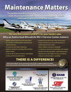 Maintenance Matters - MU-2 Magazine Print Ad