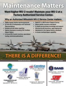 Maintenance Matters... There is a Difference - MU-2 Magazine Print Ad