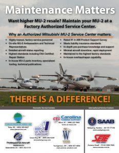 Maintenance Matters... There is a Difference - MU-2 Magazine Print Ad