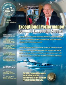 Exceptional Perfomance - MU-2 Print Ad