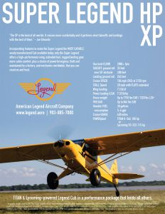 Super Legend HP & Super Legend XP Specifications Flyer