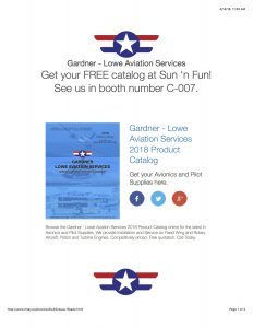 Gardner Lowe Aviation Services Product Catalog eBlast