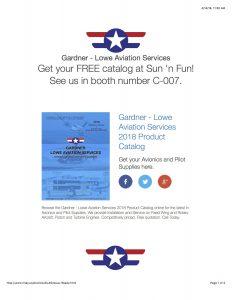 Gardner Lowe Aviation Services Product Catalog eBlast