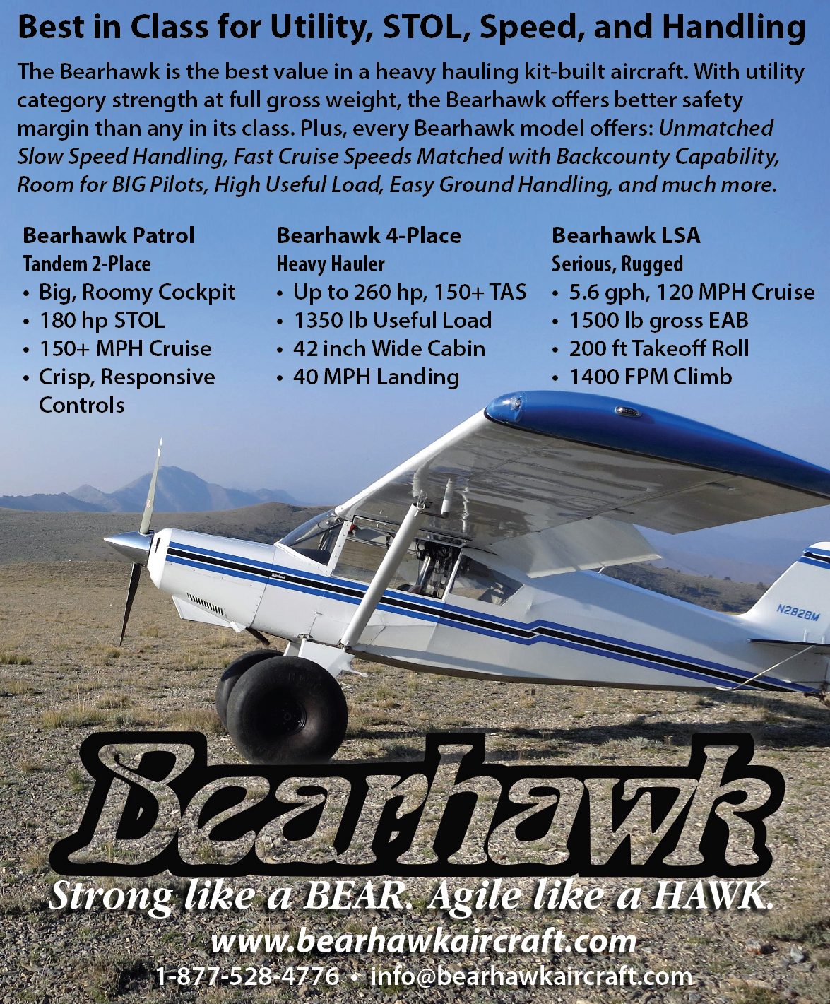 Bearhawk Print Ad – Sport Aviation Magazine 2018 – Connect
