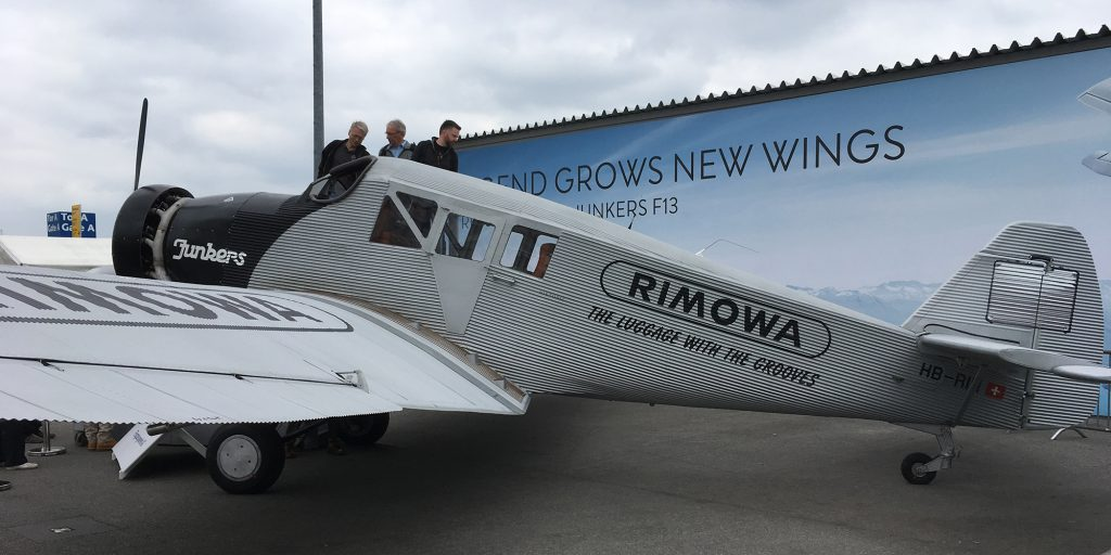 The Rimowa-Junkers F13 reproduction.