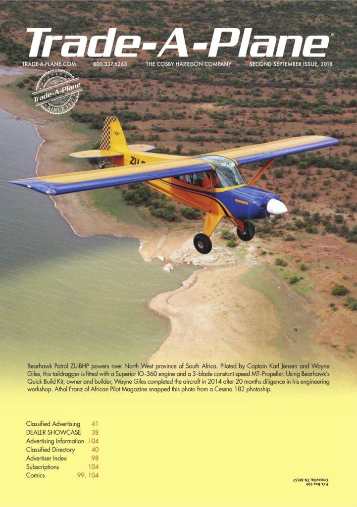 Bearhawk Aircraft, Trade-A-Plane Cover Photo