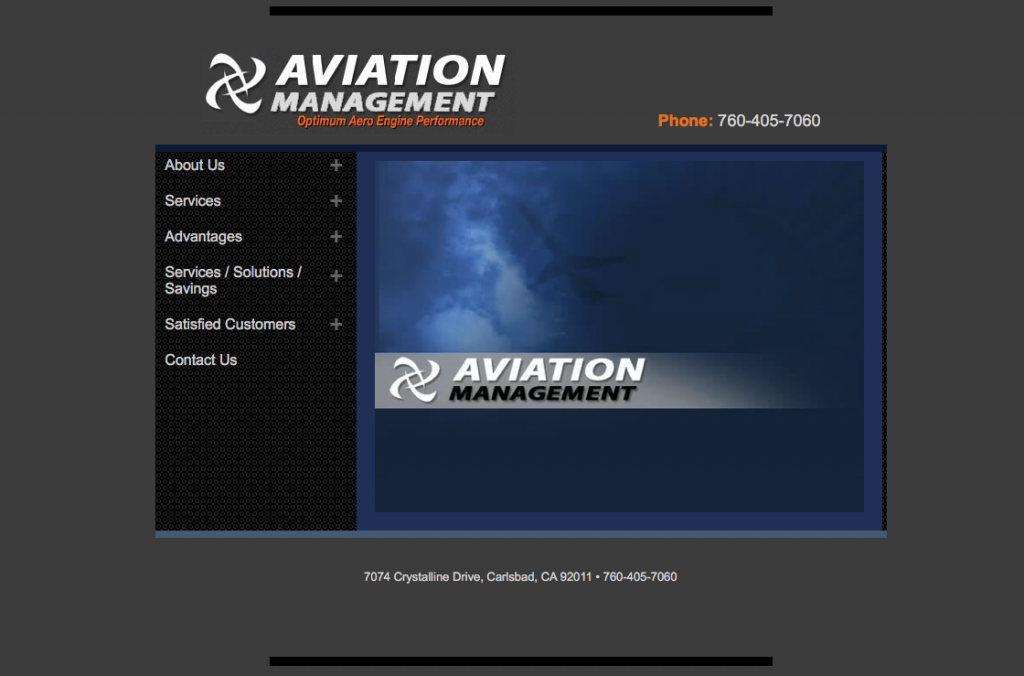 Website Design for Aviation Management Company