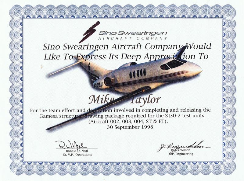 Sino Swearingen Aircraft Company - SJ30-2 Jet Structural Design