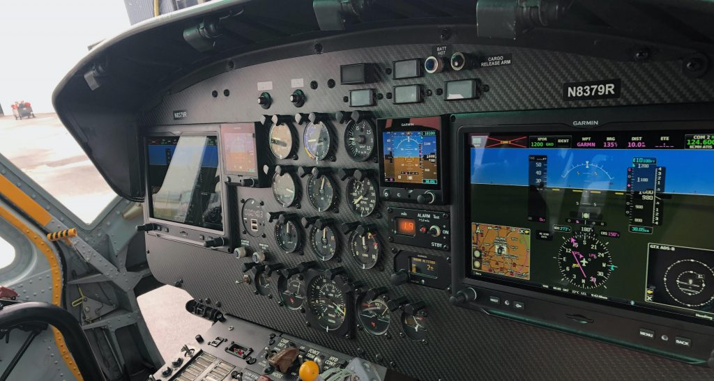 UH-1 D Huey with Garmin G3X System.