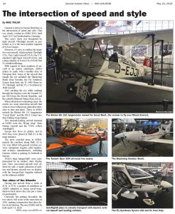 AERO 2019 Show Report from Friedrichshafen, Germany – Published in General Aviation News | May 23, 2019 (p 24).