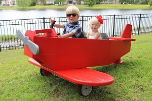 DIY Play Plane Airplane, Pedal Plane, Child's Airplane, Young Pilot, Garden Driveway Garage Hangar Airplane