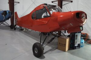 """Bob Erickson's """"Extractor"""" is an AL18 Legend Cub he's building at home."""
