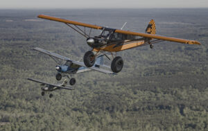 Mike Lemons' Super Legend XP in a three-aircraft formation.